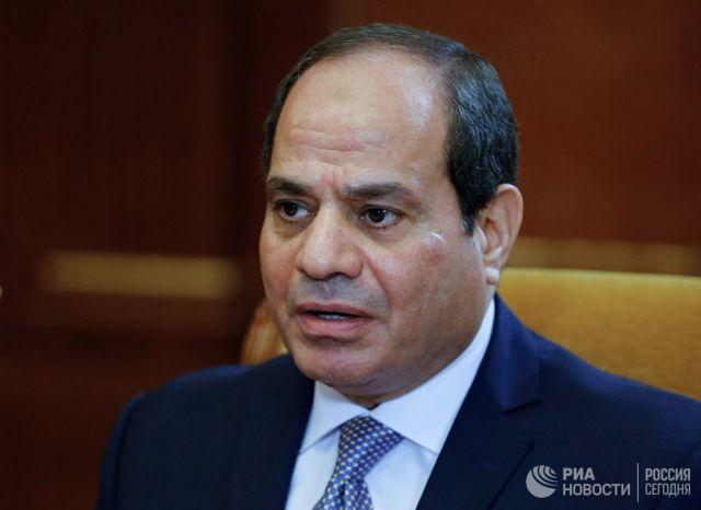 Президент Арабской Республики Египет Абдель Фаттах ас-Сиси. 16 октября 2018