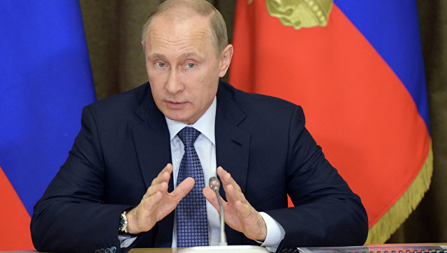 Президент России В.Путин. Архивное фото.