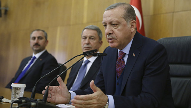 Президент Турции Тайип Эрдоган. 13 ноября 2017.