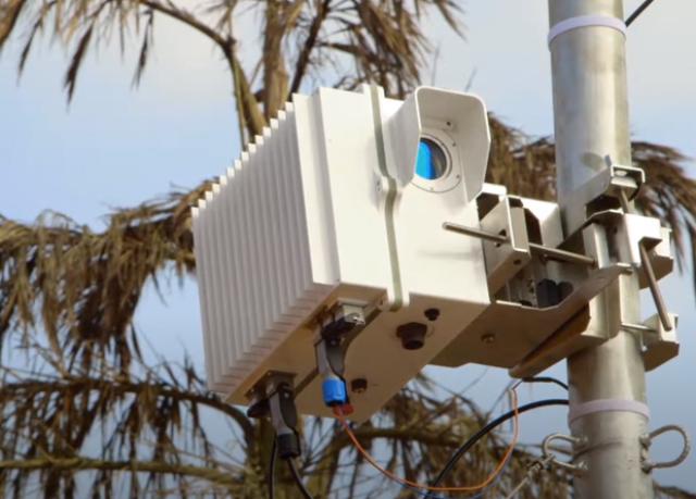 Пример лазерной станции связи, установленной в Индии