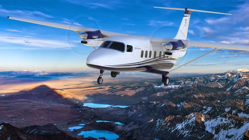 Проектное изображение создаваемого самолета Cessna SkyCourier 408.