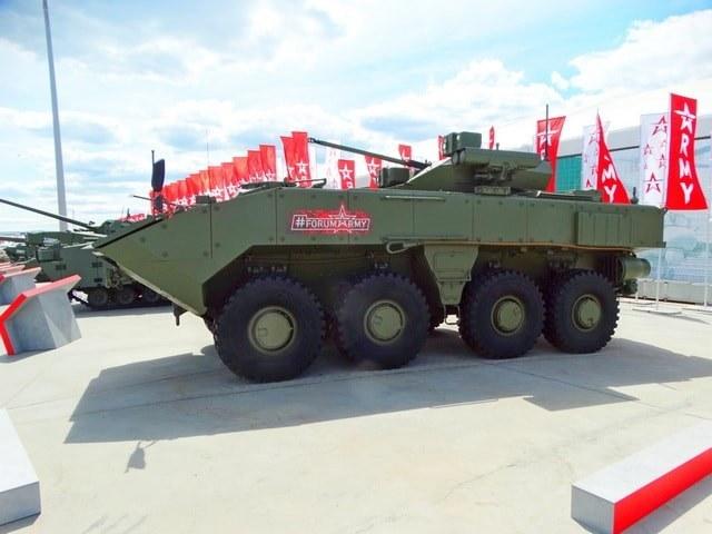 """Колесная БМП на базе """"Бумеранга"""" будет хорошо смотреться с башней от БМП-3"""