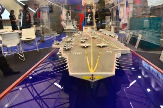 Модель авианосца проекта 23000Э