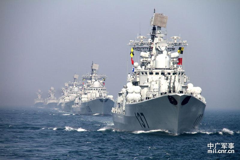 Китайские эсминцы класса «Современный» российского проекта: б/н 137 пр. 956Э; б/н 138 и б/н 139 пр. 956ЭМ.