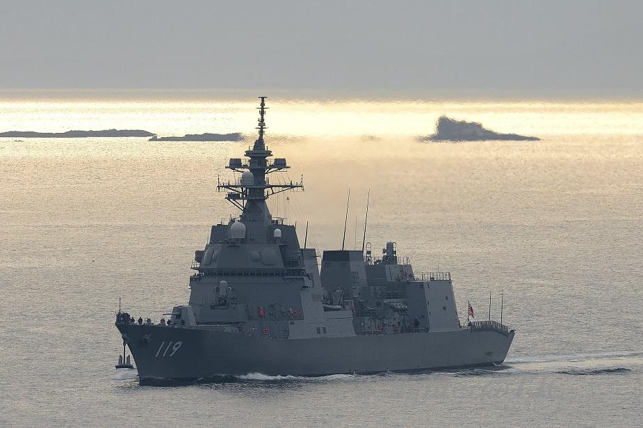 Противолодочный эсминец класса 25DD JS Asahi ВМС самообороны Японии.