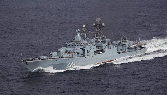 Противолодочный корабль Вице-адмирал Кулаков. Архивное фото.