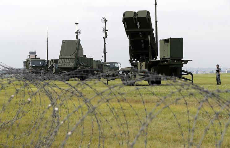 Противоракетный комплекс «Пэтриот» на военной базе Йокота.