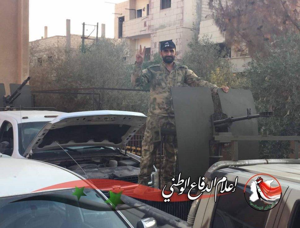 """Пулемет """"Корд"""" калибра 12,7-мм в ВС Сирии."""