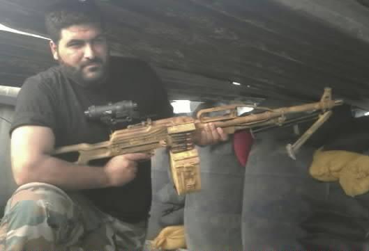 """Пулемет ПКП """"Печенег"""" правительственных сил Сирии."""