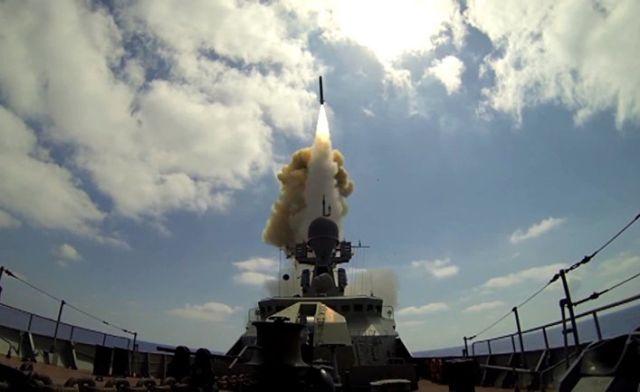 "Пуск крылатых ракет ""Калибр"""