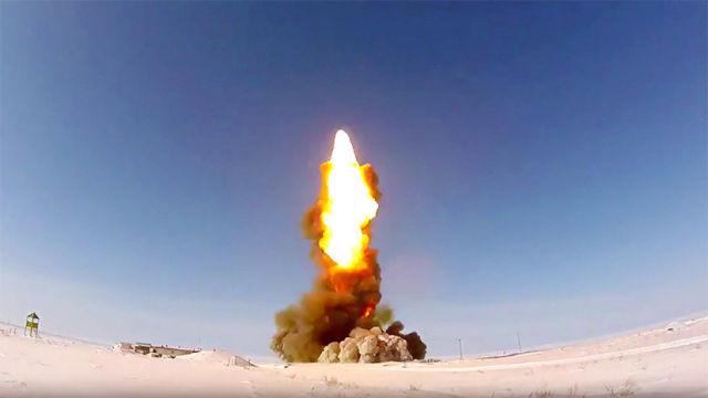 Пуск противоракеты 53Т6М