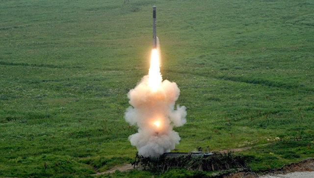 Пуск ракеты из комплекса Бастион береговых войск Тихоокеанского флота.