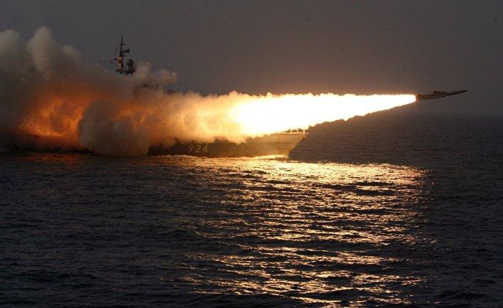 Пуск сверхзвуковой противокорабельной ракеты