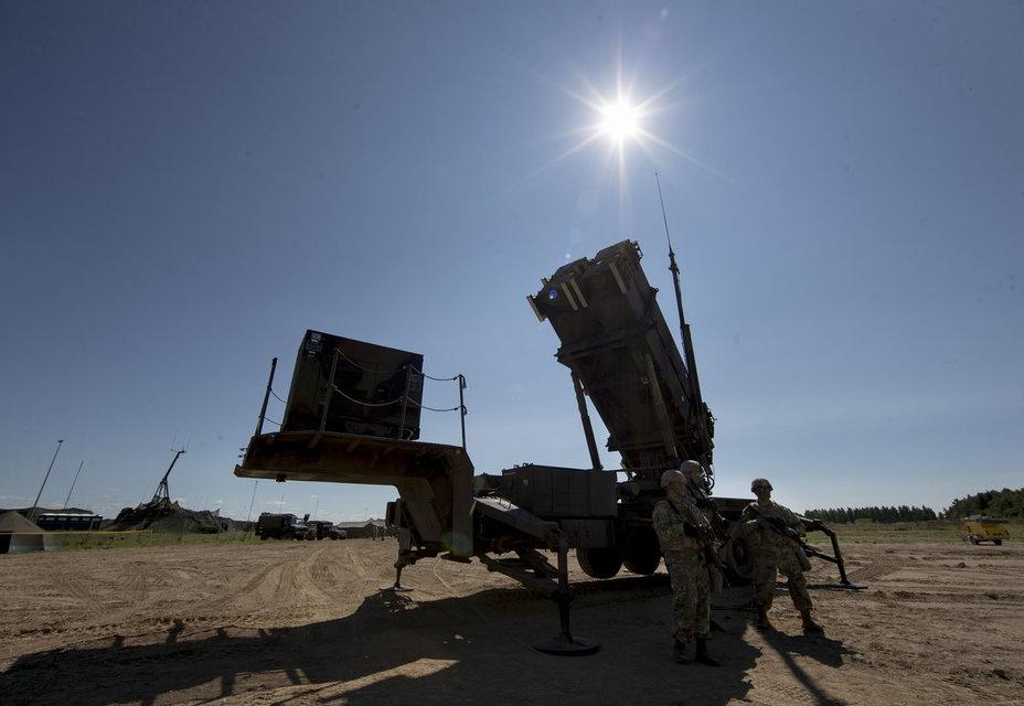 Пусковая установка системы ПВО Patriot.