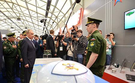 В. Путин на форуме «АРМИЯ-2015»