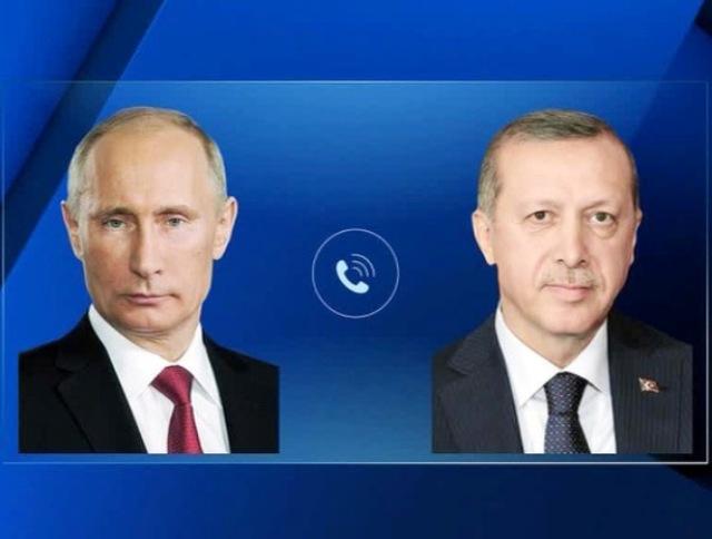 Телефонные переговоры Владимира Путина и Реджепа Тайипа Эрдогана