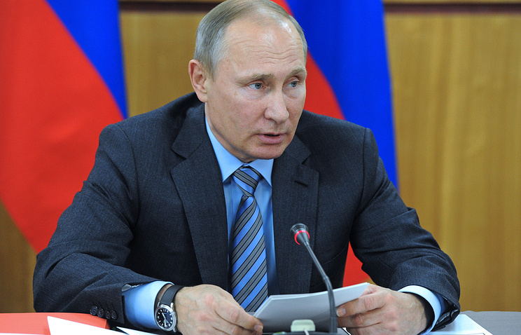 Президент РФ Владимир Путин во время заседания военно-промышленной комиссии России