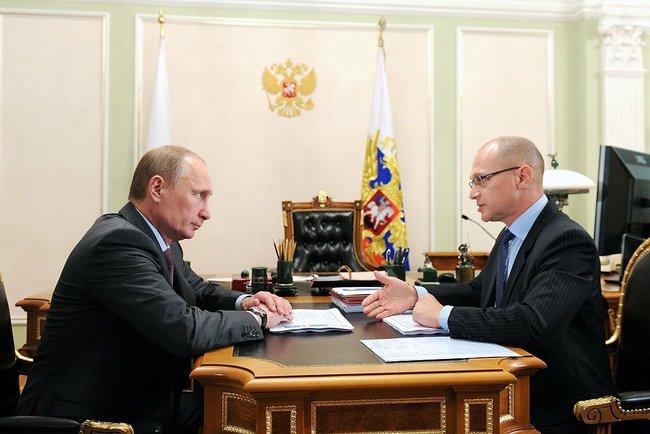 Владимир Путин и Сергей Кириенко. 9 января 2014 года Московская область, Ново-Огарёво