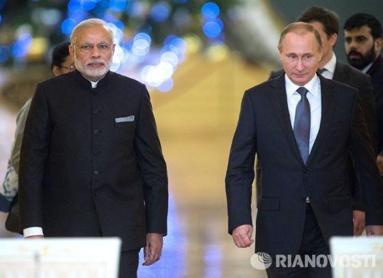 Владимир Путин и Индии Нарендра Моди