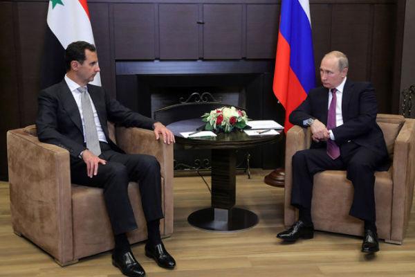 В. Путин и Б. Асад