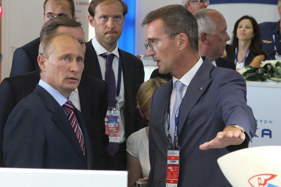 В. Путин и Б. Обносов.