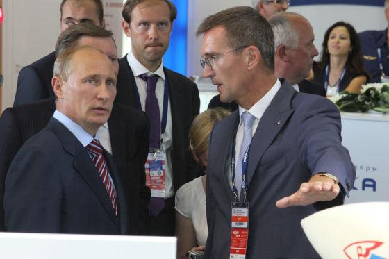 В. Путин и Б. Обносов
