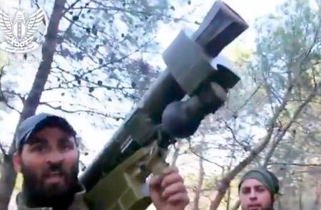 """ПЗРК """"Игла"""" в руках боевиков в Сирии."""