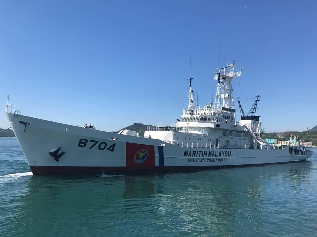 Патрульный корабль береговой охраны Малайзии Р 8704 Arau - бывший патрульный корабль PL 01 Oki береговой охраны Японии. 22.05.2017.
