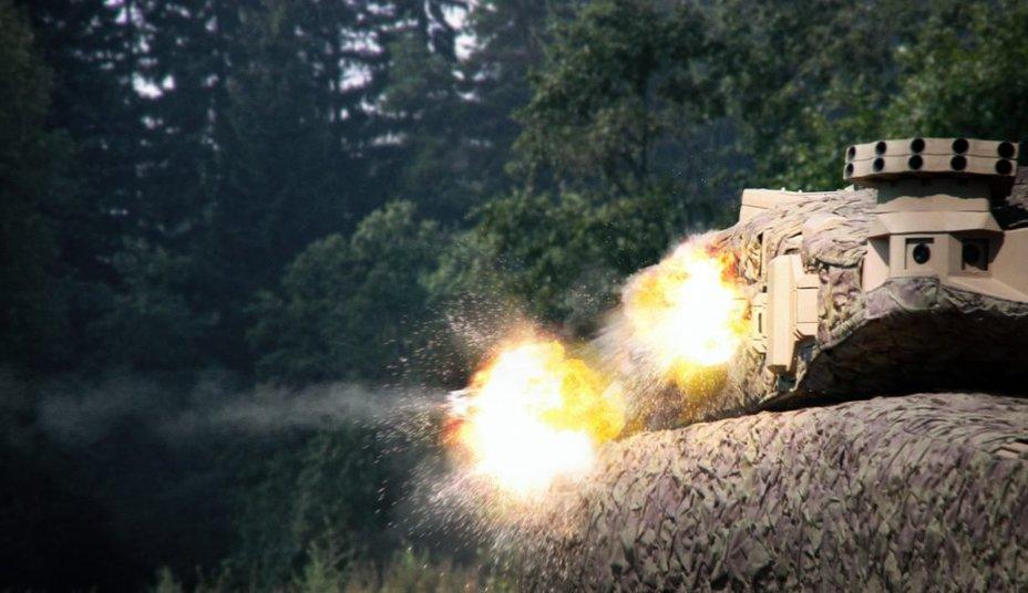 Работа системы ADS на танке Leopard II.