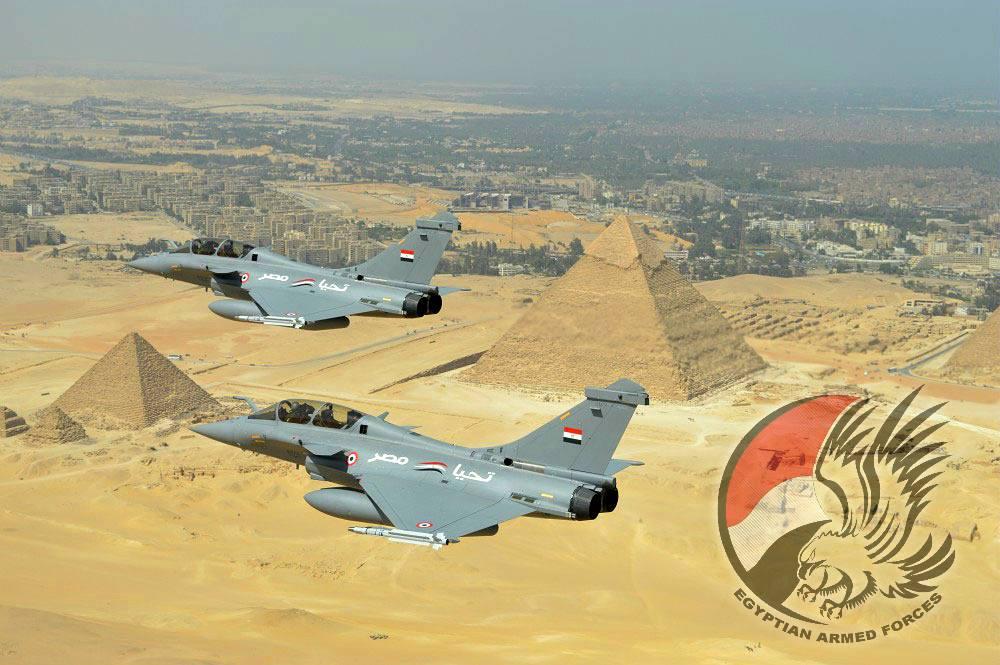 Истребители Dassault Rafale DM ВВС Египта.