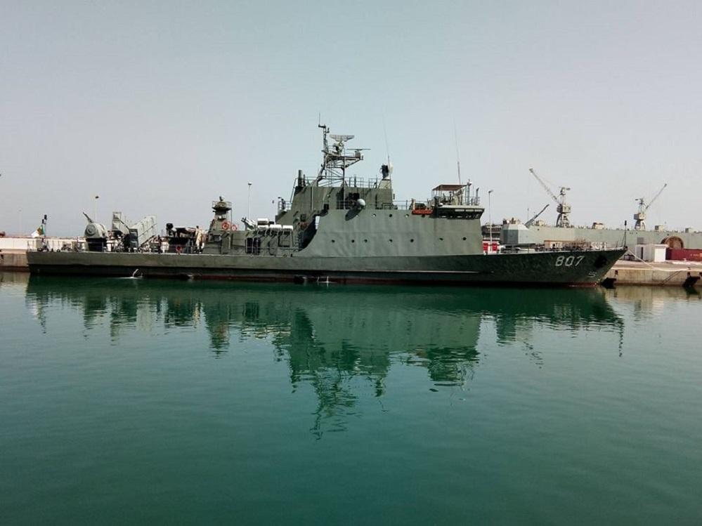 Новый алжирский корвет (малый ракетный корабль) Rais Hassen Barbiar нового типа национальной постройки. Оран, 08.08.2017.