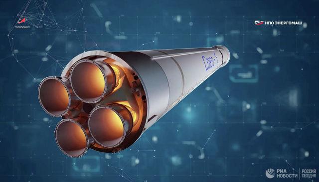 """Ракета-носитель среднего класса """"Союз-5"""" (""""Иртыш""""), оснащенная двигателем РД-171МВ"""