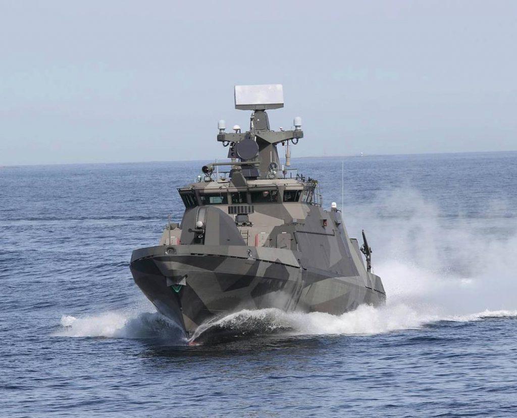 Ракетный катер Pori типа Hamina ВМС Финляндии.