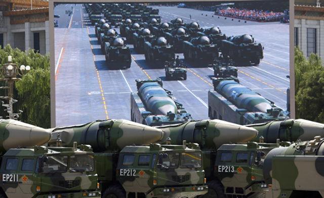 Ракеты DF-21D на параде в Пекине, посвященном победе в Японо-китайской войне