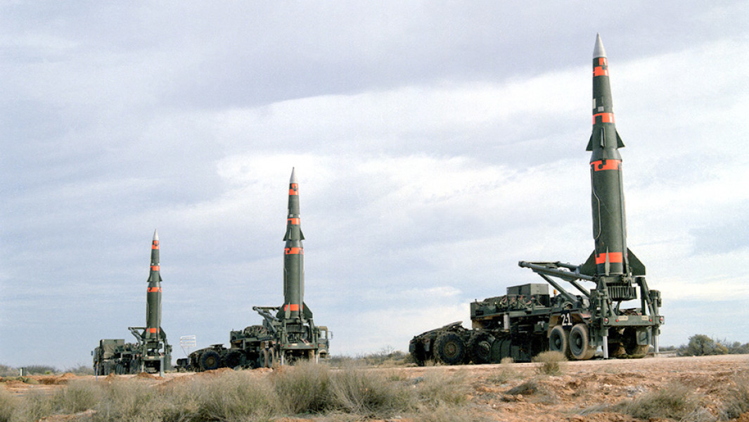 """Американскиебаллистические ракеты средней дальности""""Першинг-2""""."""