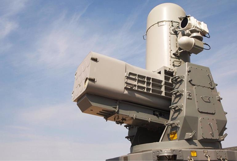 Ракетная система обороны SeaRAM Raytheon.