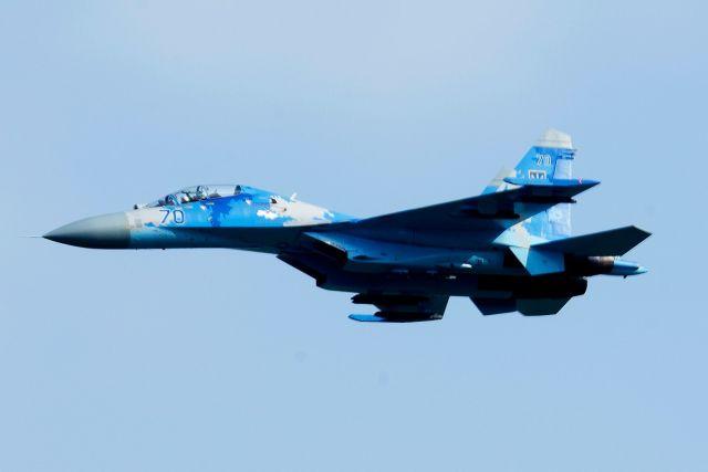 Разбившийся 16.10.2018 учебно-боевой истребитель Су-27УБ