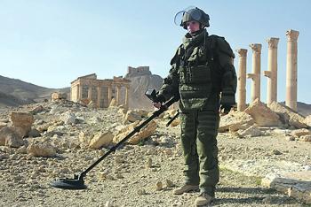 Разминирование Пальмиры стало ярким эпизодом сирийской кампании. Фото с сайта Министерства обороны РФ