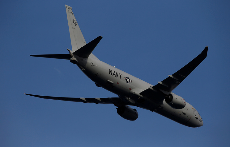 Разведывательный самолет ВМС США Poseidon.