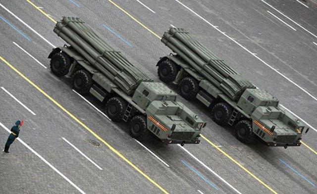 """Реактивные системы залпового огня (РСЗО) """"Торнадо-С"""""""