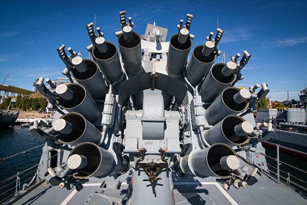 "Реактивныи бомбомет РБУ-6000 ""Смерч-2"" на фрегате ""Адмирал Макаров"""