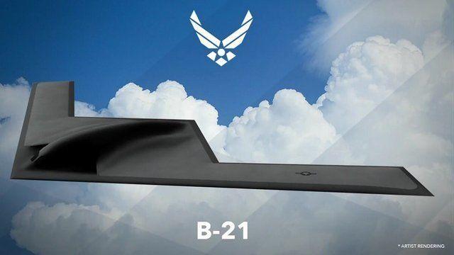Рендер бомбардировщика B-21 Raider