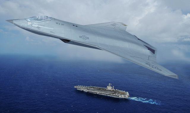 Рендер истребителя программы NGAD от Northrop Grumman.