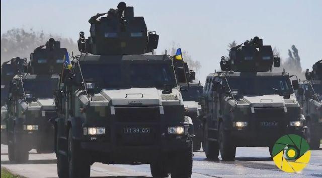 Репетиция военного парада ВСУ