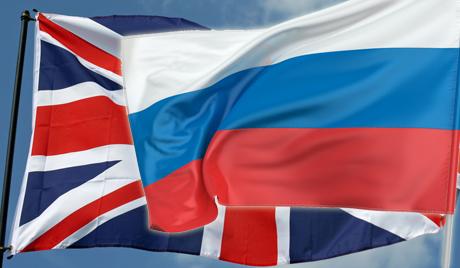 Флаги РФ и Великобритании