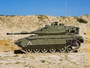 Танк «Меркава-4» c ДЗ NxRA на бортовых экранах.