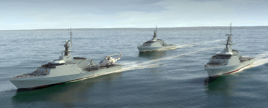 Компьютерная визуализация кораблей типа River Batch 2.
