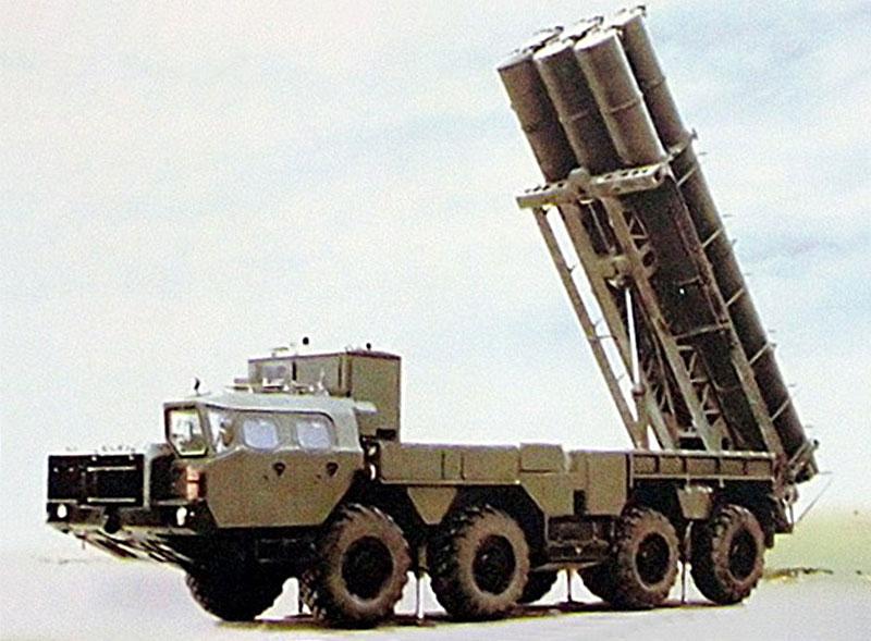 """Самоходная пусковая установка 9В2413 комплекса РК-55 """"Рельеф"""" - SSC-X-4 SLINGSHOT (Soviet Military Power, 1989 г.)."""
