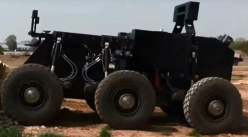 Боевой робот RoBattle, разработанный компанией Israel Aerospace Industries.