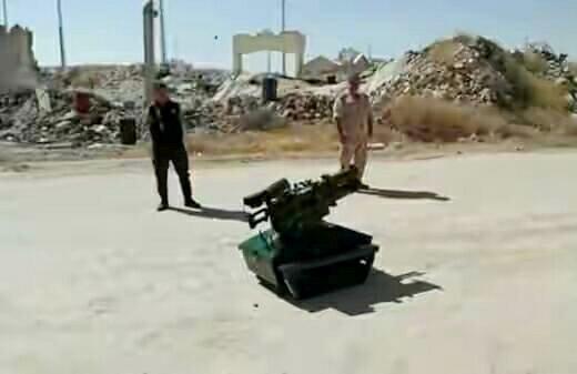 Роботизированный комплекс, созданный специалистами республиканской гвардии Сирии.